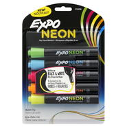 EXPO Neon Dry Erase Markers, Bullet