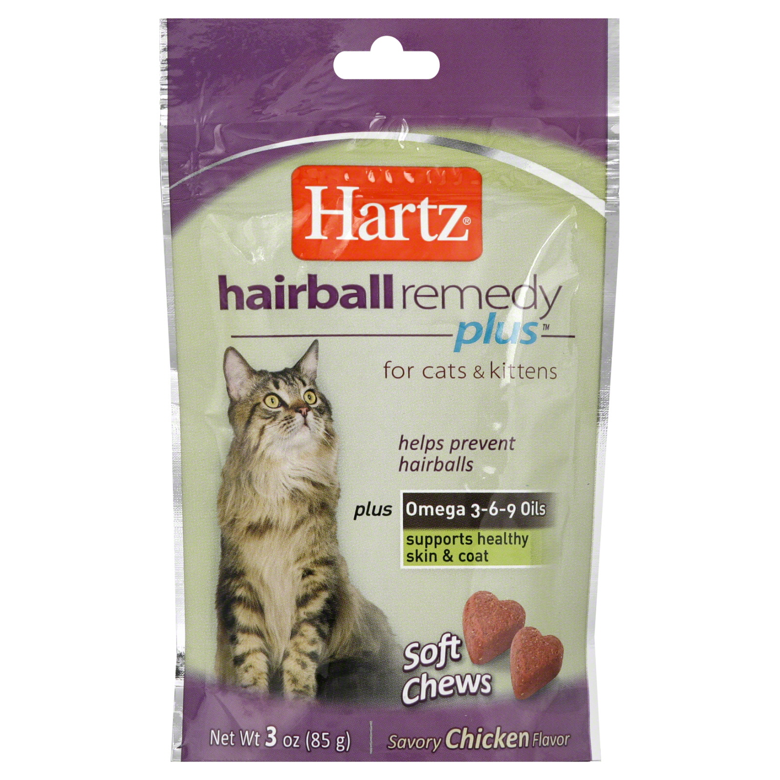 Hairball Remedy Plus Soft Chews, for Cats &