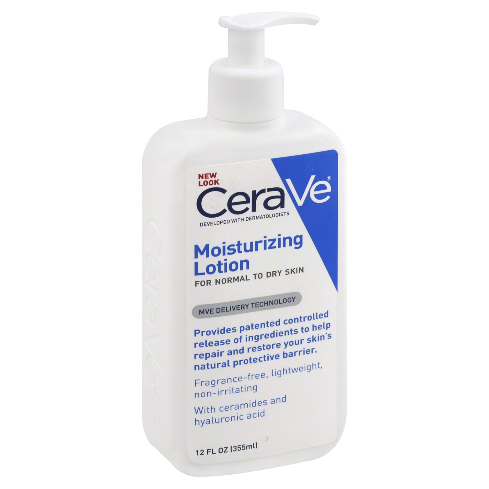 CeraVe Lotion, Moisturizing, For Normal To Dry Skin, 12 fl oz (355 ml)