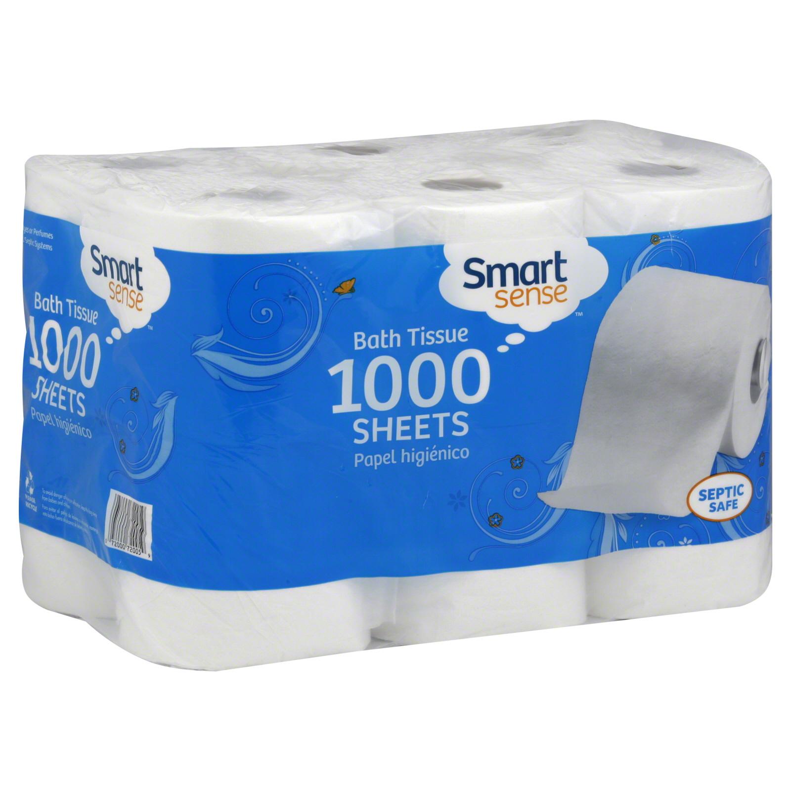 Smart Sense Bath Tissue, 1-Ply, 12 rolls