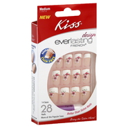 Kiss Design Everlasting French Nail Kit, Medium Length, EFD01, 1 kit at Kmart.com