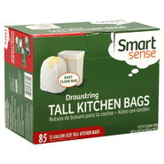 Smart Sense Tall Kitchen Bags, Drawstring, 13 Gallon Size, 85 bags at Kmart.com