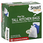 Smart Sense Tall Kitchen Bags, Flap Top, 13 Gallon Size, 80 bags at Kmart.com