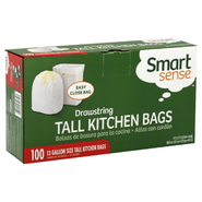 Smart Sense Tall Kitchen Bags, Drawstring, 13 Gallon Size, 100 bags at Kmart.com