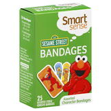 Smart Sense Bandages, Assorted Character, 123 Sesame Street, 25 bandages at mygofer.com