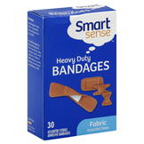 Smart Sense Bandages, Heavy Duty, Fabric, Assorted Sizes, 30 bandages at mygofer.com