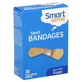 Smart Sense Bandages, Adhesive, Sport, Foam, Extra Wide, 30 bandages at mygofer.com