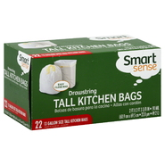 Smart Sense Tall Kitchen Bags, Drawstring, 13 Gallon Size, 22 bags at Kmart.com