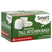 Smart Sense Tall Kitchen Bags, Drawstring Superflex, 13 Gallon Size, Clean Fresh Scent, 40 bags at Kmart.com