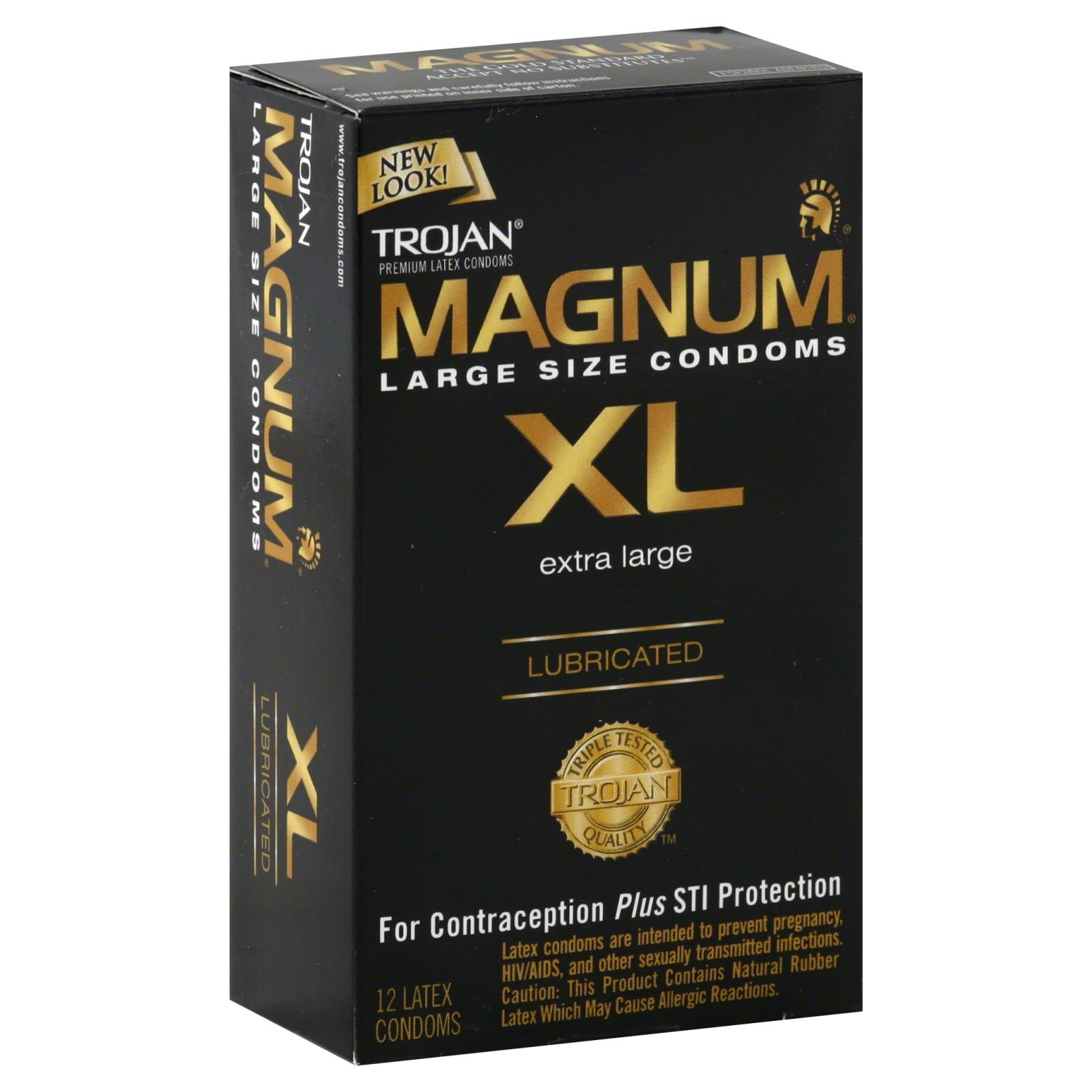 trojan magnum xl condoms premium latex extra large size