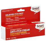 Smart Sense Anti-Itch Cream, Plus 10 Moisturizers, Maximum Strength, 1 oz (28 g) at mygofer.com