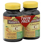 Nature Made Vitamin C, 500 mg, Chewable Tablets, Twin Pack, 2 - 60 tablet bottles at Kmart.com