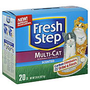 Fresh Step Cat Litter, Scoopable, Multi-Cat, Scented, 20 lb (9.07 kg) at Kmart.com