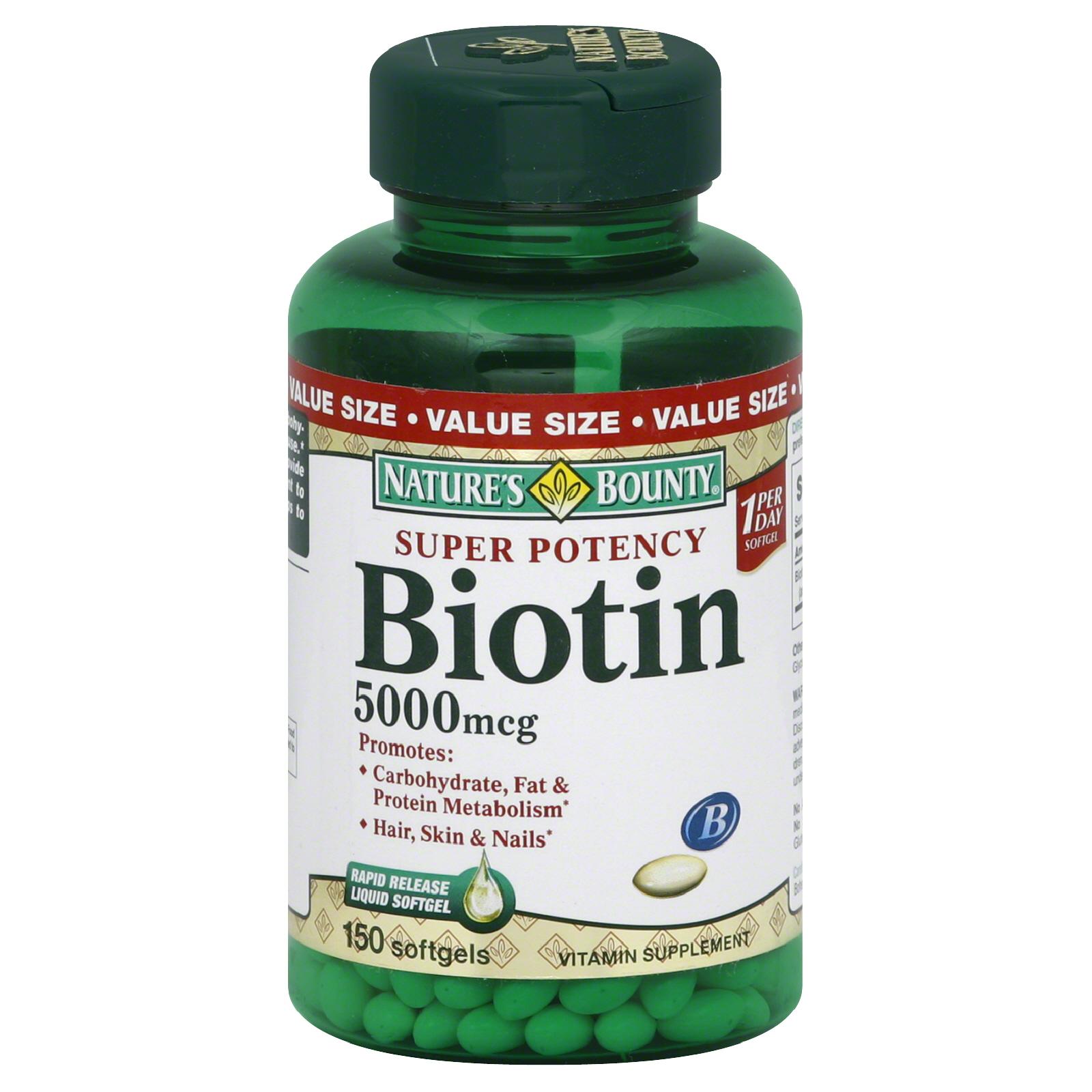 Nature's Bounty Super Potency Biotin 5000 mcg softgels