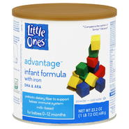 Little Ones Advantage Infant Formula, with Iron, Powder, 0-12 M, 23.2 oz (1 lb 7.2 oz) 658 g at Kmart.com