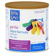 Little Ones Gentle Infant Formula, with Iron, Powder, 0-12 M, 24 oz (1 lb 8 oz) 681 g at Kmart.com