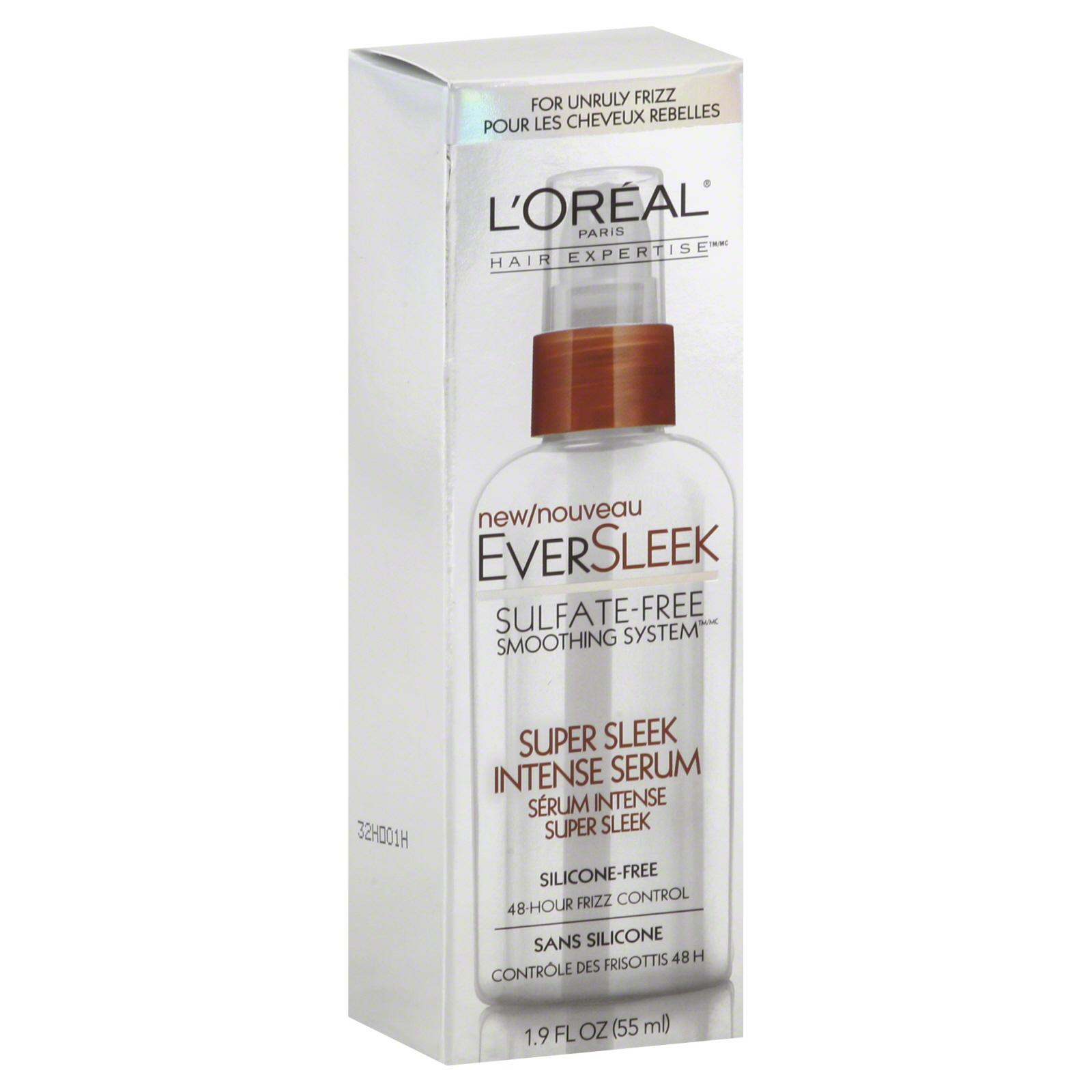 L'Oreal Hair Expertise EverSleek Intense Serum, Super Sleek, 1.9 oz (55 ml)
