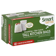 Smart Sense Tall Kitchen Bags, Drawstring, Odor Control, 13 Gallon, 40 bags at Kmart.com