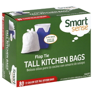 Smart Sense Tall Kitchen Bags, Flap Tie, 3-Ply, 80 bags at Kmart.com