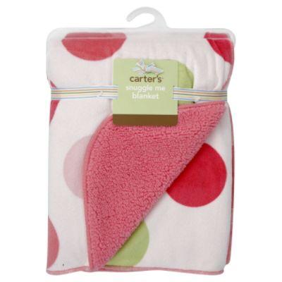 Carter's Blanket, Snuggle Me, Pink/Green, 1 blanket