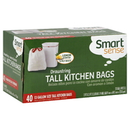 Smart Sense Tall Kitchen Bags, Drawstring, 3-Ply, 13 Gallon, Lemon Scented, 40 bags at Kmart.com