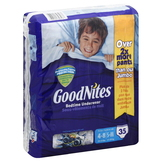 GoodNites Bedtime Underwear, 4-8/S-M, (38-54 lb), Cool Designs, 35 underwear at mygofer.com