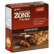 Zone Perfect Sweet & Salty Nutrition Bars, Cashew Pretzel, 5 - 1.58 oz (45 g) bars [7.9 oz (225 g)] at Kmart.com