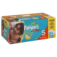 Pampers Baby Dry Diapers, Size 5 (27+ lb), Sesame Street, 84 diapers at Kmart.com