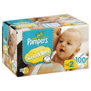 Pampers Swaddlers Diapers, Size 2 (12-18 lb), Sesame Beginnings, 100 diapers at Kmart.com