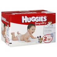 Huggies Snug & Dry Diapers, Size 2 (12-18 lb), Disney Mickey Mouse, Big Pak, 92 diapers at Kmart.com