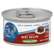 Purina Smart Blend Cat Food, Premium Pate, Classic Beef Recipe, 3 oz (85 g) at Kmart.com