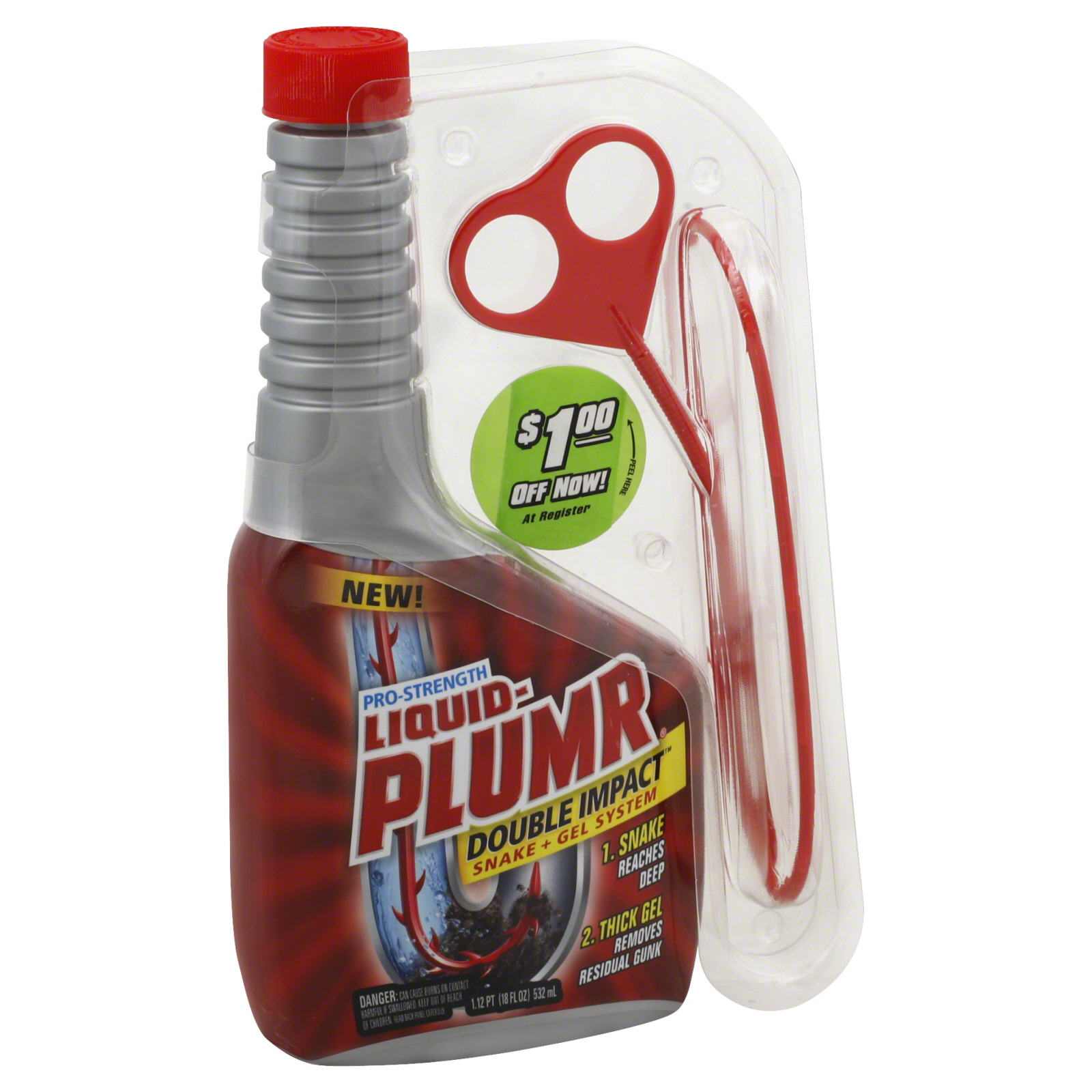 Liquid-Plumr Professional Strength Double Impact 18 oz PartNumber: 029W004305550001P KsnValue: 4305550 MfgPartNumber: 30708