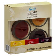 Febreze Home Collection Soy Blend Candle Trios, Orange Honeycomb, Cranberry Pear, Rosewood Plum, 3 - 2 oz (56 g) candles [6 oz (168 g)] at Kmart.com