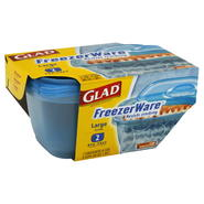 Glad Freezer Ware Containers, Large, 2 containers & lids at Kmart.com