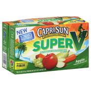 Capri Sun Super V Fruit & Vegetable Juice Drink, Apple, 10 - 6 fl oz (177 ml) pouches [60 oz (1.77 lt)] at Kmart.com
