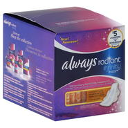 Always Radiant Infinity Pads, Overnight, Flexi-Wings, Light Clean Scent, 12 pads at Kmart.com