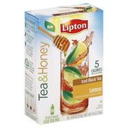 Lipton Tea & Honey Iced Tea Mix, Iced Black Tea, Lemon, To Go Packets, 10 - 0.14 oz (3.9 g) packets [1.4 oz (39 g)] at Kmart.com