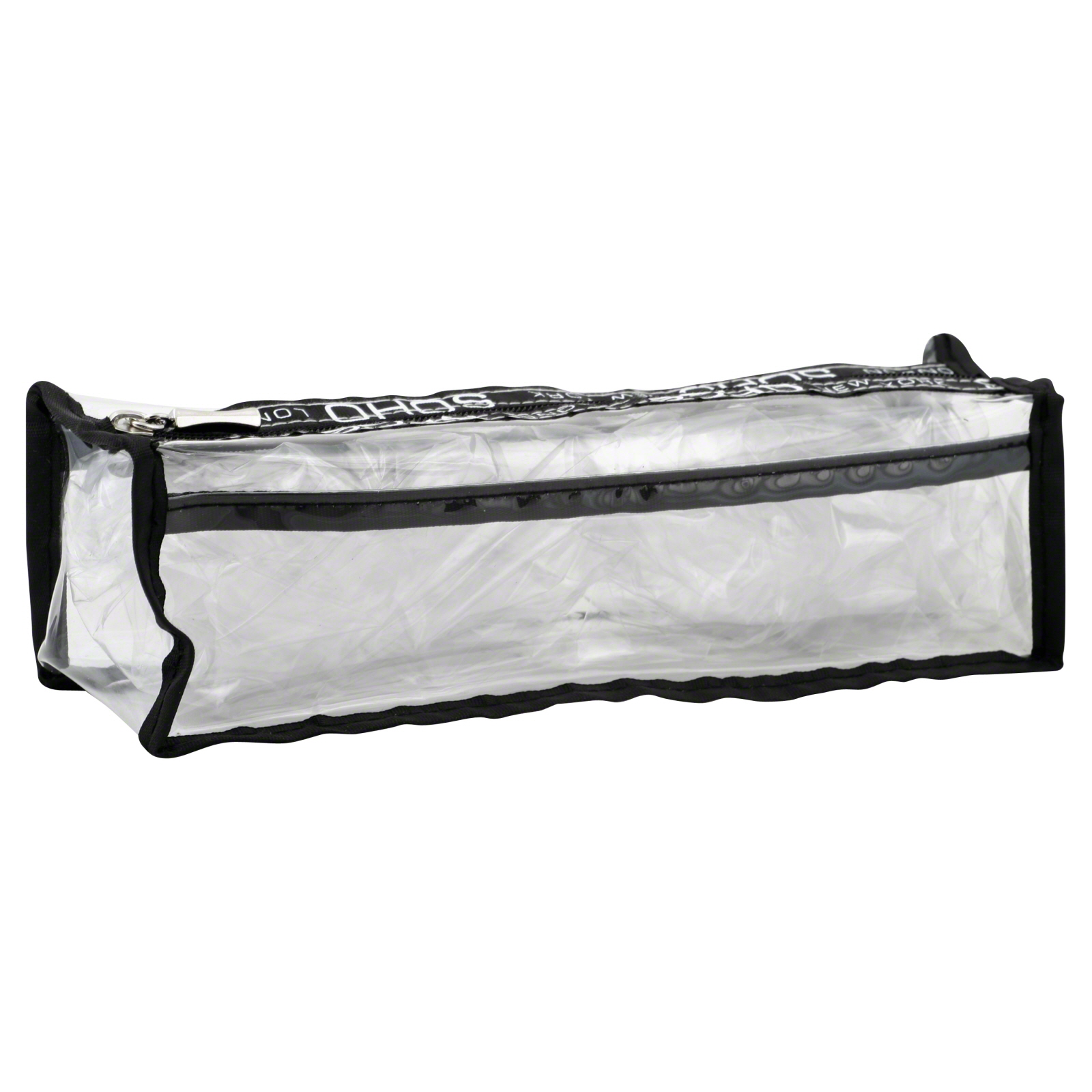 Basics Pencil Case, Long, Clear, 1 case