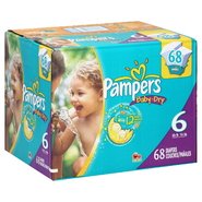 Pampers Baby Dry Diapers, Size 6 (35+ lb), Sesame Street, 68 diapers at Kmart.com
