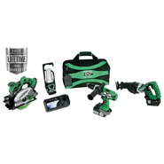 Hitachi 18 V 3.0 Ah Lithium Ion 4-Tool Combo Kit at Sears.com