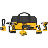 DeWalt 18 V XRP 4 Tool Combo: Hammerdrill/Recip/Impact/Floodlight at Sears.com