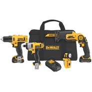 DeWalt 12 V MAX* Li-ion 4-Tool Combo Kit at Sears.com