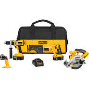 DeWalt 18 Volt Cordless 4 Tool Combo Kit at Sears.com