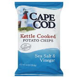 Cape Cod Potato Chips, Kettle Cooked, Sea Salt & Vinegar, 8 oz (226.8 g) at mygofer.com