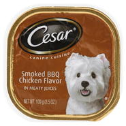 Cesar Sunrise Canine Cuisine, Smoked BBQ Chicken Flavor, in Meaty Juices, 3.5 oz (100 g) at Kmart.com