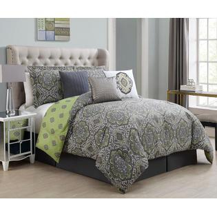 KingLinen 7 Piece Yonce Reversible Comforter Set