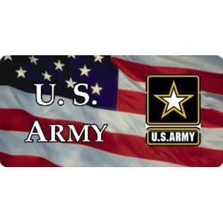 lPOL U.S. Army with Flag Photo License Plate at Sears.com