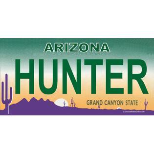 License Plates Online Arizona HUNTER Photo License Plate at Sears.com