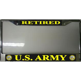 License Plates Online U.S. Army Retired Photo License Plate Frame at Sears.com