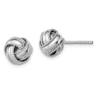 838868aa8 Diamond2Deal Diamond2Deal 925 Sterling Silver Rope Edged Knot Post Stud  Earrings for Women 2